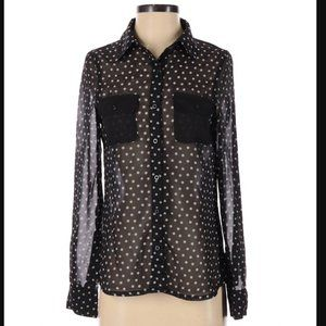Tommy Girl Polka Dot Blouse